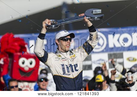 Las Vegas, NV - Mar 06, 2016: Brad Keselowski (2) wins the Kobalt 400 at the Las Vegas Motor Speedway in Las Vegas, NV.