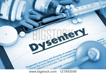 Dysentery Diagnosis. Medical Concept.