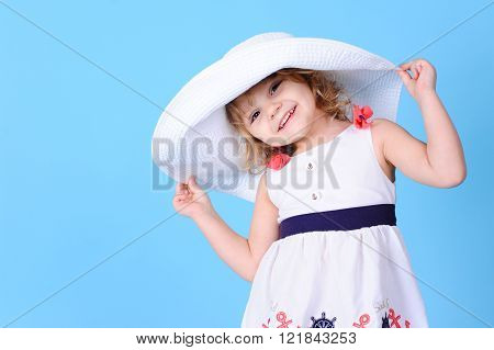 Cute baby wearing summer clothes