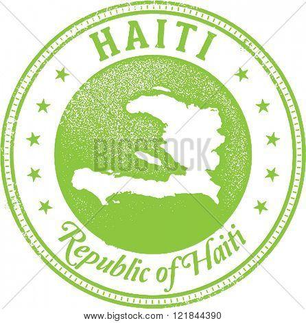 Haiti Country Travel Stamp
