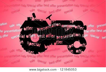 Logo Tractor.vector Illustration