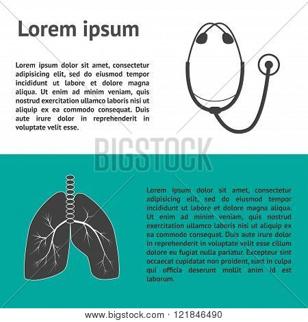 template for medical clinics. Diagnosis and treatment of diseases of the respiratory system