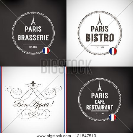 Set of Paris Badges