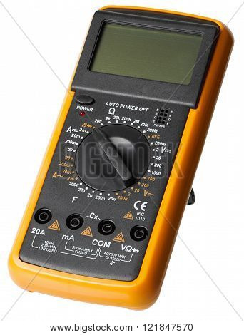 Digital Multimeter Electrical Tester isolated white background