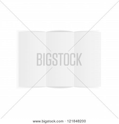 Fold empty Flyer in realistic Style