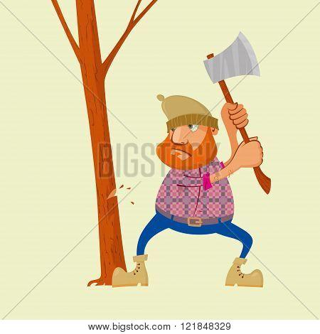 Lumberjack With Ax