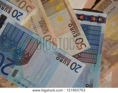 Fifty And Twenty Euro Notes