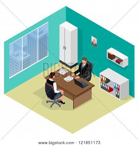 Job interview. Job applicants. Concept of hiring worker. Candidate and recruitment, hire and intervi