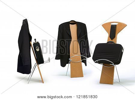 coat chair on white background