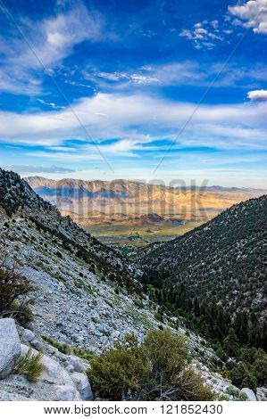 Vista From Road To Mt Whitney With Lone Pine, CA And Alabama Hills