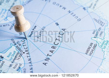 Antarctica On A Map