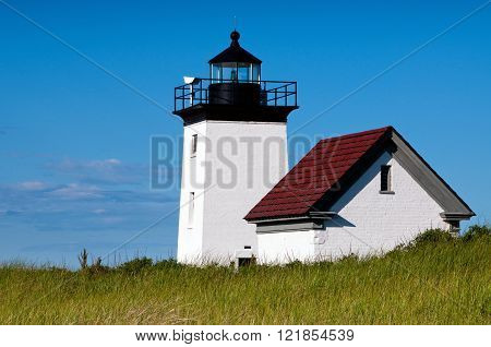 Long Point lighthouse, a favorite tourist attraction, is located on the end of Cape Cod in Massachusetts.