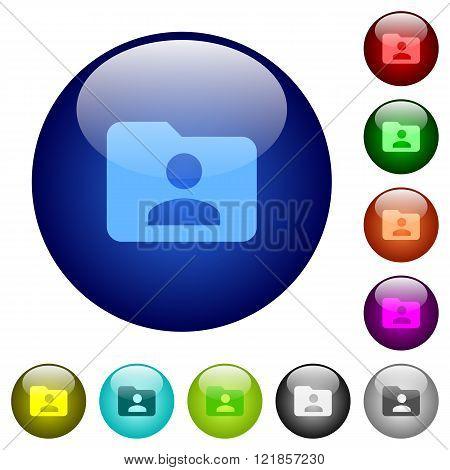 Color Folder Owner Glass Buttons