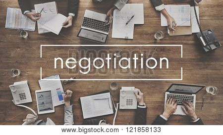 Negotiation Deal Agreement Collaboration Talk Concept