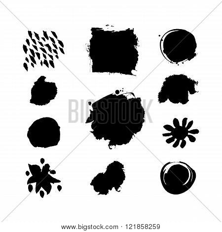 Grunge splashes vector set