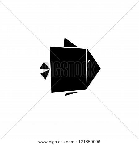 Abstract Fish geometric Icon