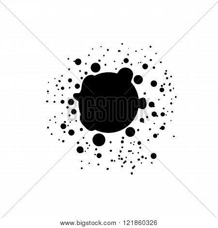 Paint splat banner