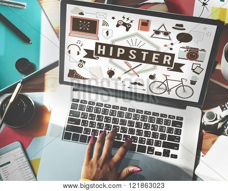 Hipster Lifestyle Style Retro Indie Concept