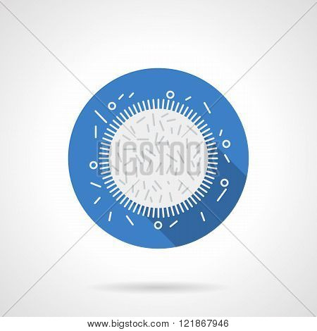 Microflora research blue round flat vector icon
