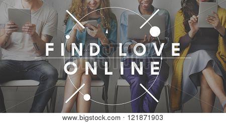 Find Love Online Passion Romance Search Concept
