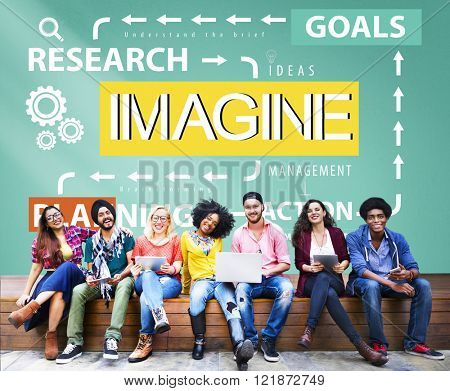 Imagine Imagination Research Goals Planning Concept