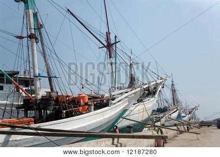Sunda Kelapa harbour for schooners in Jakarta