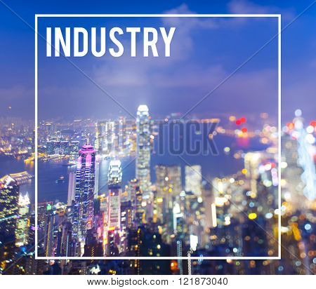 Industry Economic Cityscape Metropolitan Production Concept