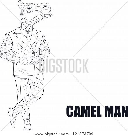 Cartoon character camel