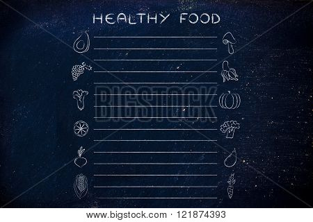 Healthy Food Grocery List Template