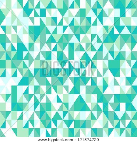 Colorful mosaic poly pattern