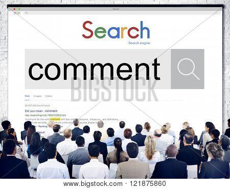 Comment Social Media Response Social Network Concept