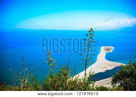really colours of italian sea in sicily