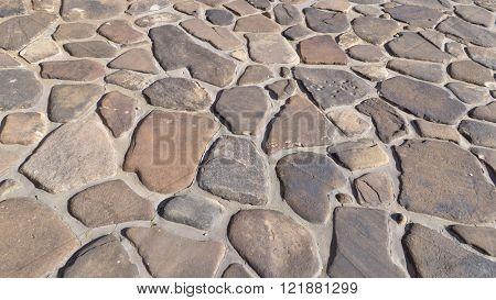 Random shape stone paver hardscape pathway, driveway design