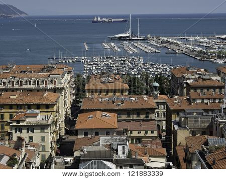 the City of la spezia at the italian coast