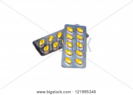 pills in a sealed blister pack
