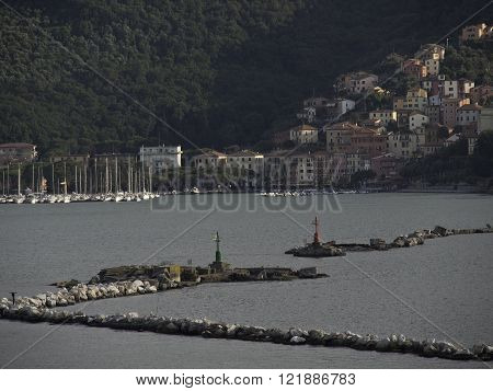 la spezia at the lgiurian coast in italy