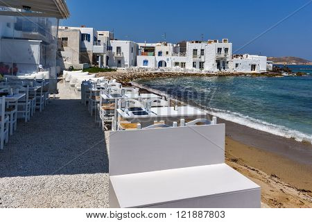 Bay in Naoussa town, Paros island, Cyclades, Greece