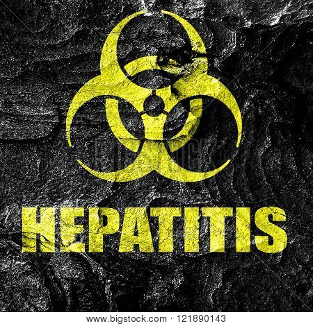 Hepatitis virus concept background