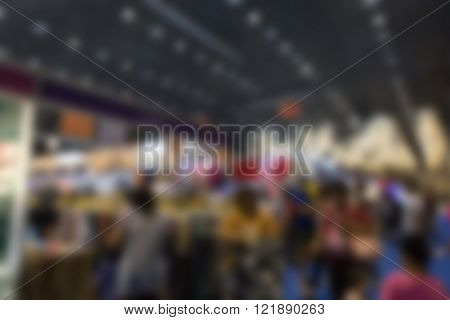 Blur Background Of People Shopping In Fair