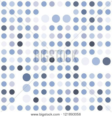 Polka dot seamless background. Abstract geometric vector pattern. Serenity tint ornamental texture.