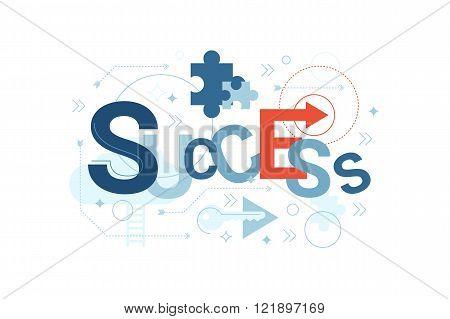 Success Word Typography