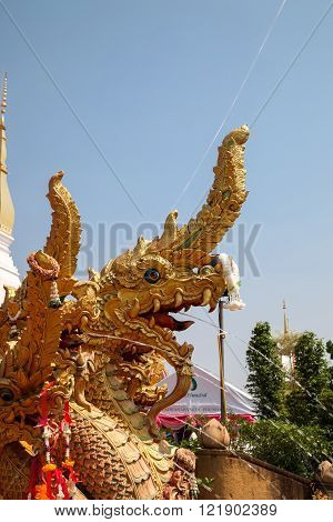 SAKON NAKHON THAILAND-APRIL 13 2015: Wat Pratat Choeng Chum Ancient Temple in Sakonnakorn Thailand.