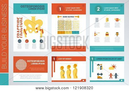 Osteoporosis Report Book Cover And Presentation Template