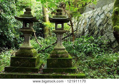 Stone lantern in temple