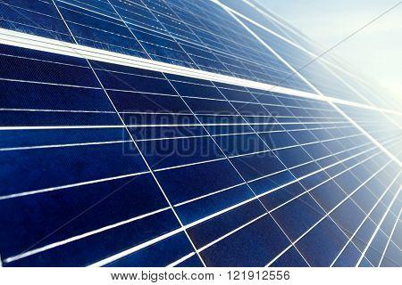 Solar energy panel close up