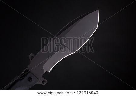 Pocket knife on black