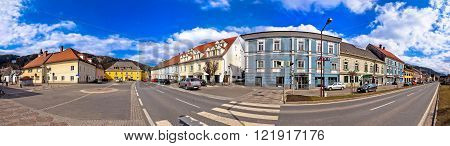 Town of Bad sankt Leonhard im Lavanttal center panorama Carinthia Austria