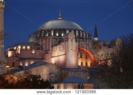 Hagia Sophia museum in Istanbul City Turkey