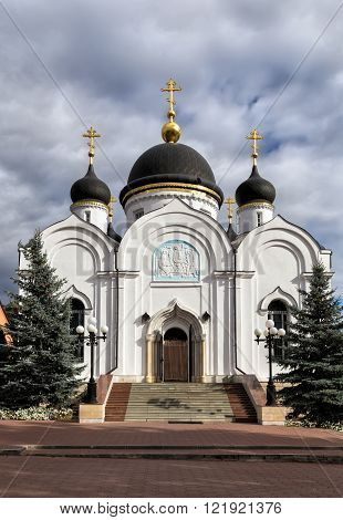 Trinity Cathedral. St. Tikhon's Monastery of Transfiguration diocesan - convent of Lipetsk and Yelets Diocese of the Russian Orthodox Church located 7 kilometers north of the city of Zadonsk.