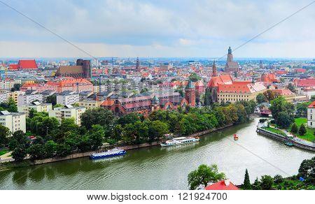 Wroclaw Old Town Skyline, Poland